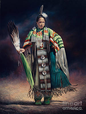 Native Portraits Painting - Ceremonial Rhythm by Ricardo Chavez-Mendez