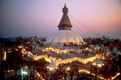 Photograph - Ceremony At Boudha Stupa, Nepal by Alison Wright