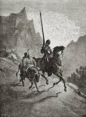 Cervantes Saavedra, Miguel De 1547-1616 Art Print by Everett
