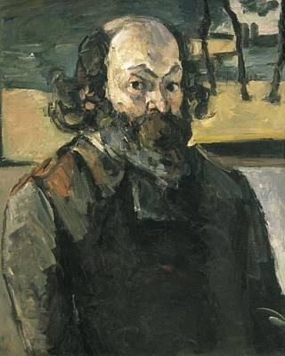 Self-portrait Photograph - Cezanne, Paul 1839-1906. Self Portrait by Everett