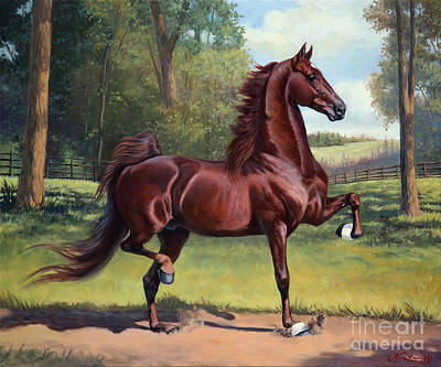 American Saddlebred Painting - Ch. Merchant Prince by Jeanne Newton Schoborg
