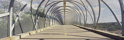 Chain-link Fence Covering A Bridge Art Print by Panoramic Images