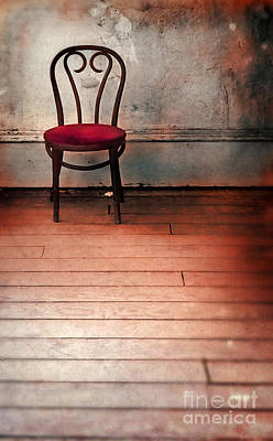 Photograph - Chair In Abandoned Room by Jill Battaglia