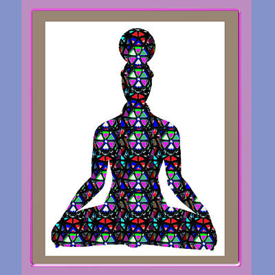 Chakra Painting - Chakra Yoga Meditation Buy Faa Print Products Or Down Load For Self Printing Navin Joshi Rights Mana by Navin Joshi