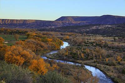 Chama River At Sunset Art Print