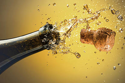Champagne Photograph - Champagne Bottle And Cork by Ktsdesign