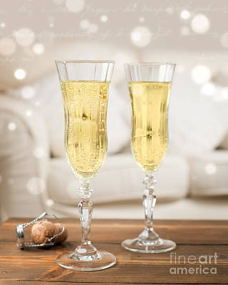 Champagne Celebration Art Print by Amanda Elwell