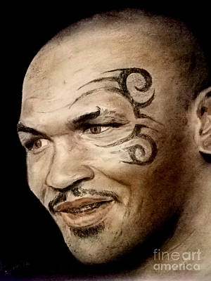 Drawing - Champion Boxer And Actor Mike Tyson by Jim Fitzpatrick