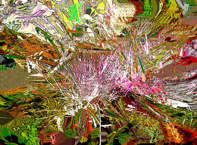 Digital Art - Chaos In The Jungle by Ruth Edward Anderson