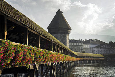 Photograph - Chapel Bridge In Lucerne by For Ninety One Days