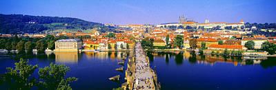 Prague Czech Republic Photograph - Charles Bridge, Prague, Czech Republic by Panoramic Images