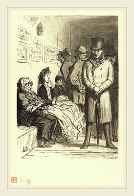 Charles Maurand After Honoré Daumier French Art Print by Litz Collection