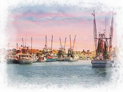 Photograph - Charleston Shrimp Boats by Joe Duket