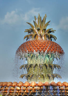 Photograph - Charlestons Pineapple Fountain by Kathy Baccari