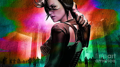 Charlize Wall Art - Mixed Media - Charlize Theron  by Marvin Blaine