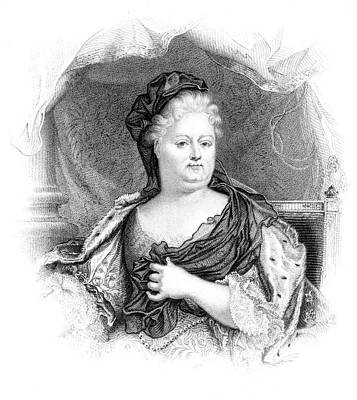 Charlotte-elisabeth Duchess Of Orleans Art Print by Mary Evans Picture Library