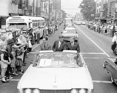 Charlotte Motorcade President John F. Kennedy Art Print by Retro Images Archive