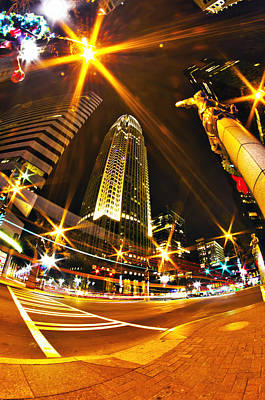 Charlotte Nc Usa  Nightlife Around Charlotte Art Print