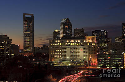 Photograph - Charlotte Skyline At Night by Jill Lang