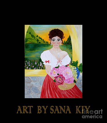 Painting - Charming Woman. Inspirations Collection. by Oksana Semenchenko