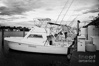 Charter Fishing Boats Charter Boat Row City Marina Key West Florida Usa Art Print by Joe Fox