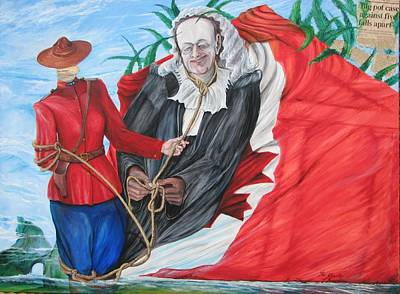 Liberal Painting - Charter Of Freedoms by Kim  Amorim