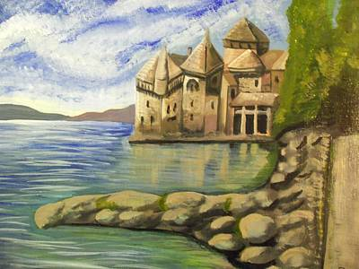 Chateau Chillon Switzerland Art Print by Christine McNulty