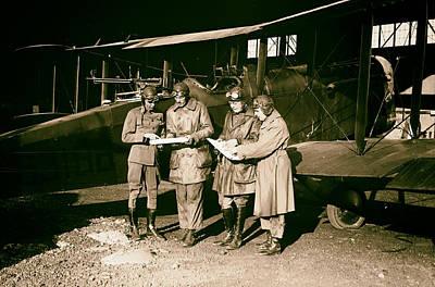 Checking Flight Plans 1920 Art Print by Mountain Dreams