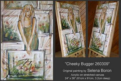 Art Print featuring the painting Cheeky Bugger 260309 by Selena Boron