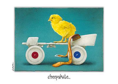 Roller Skates Painting - Cheepskate... by Will Bullas