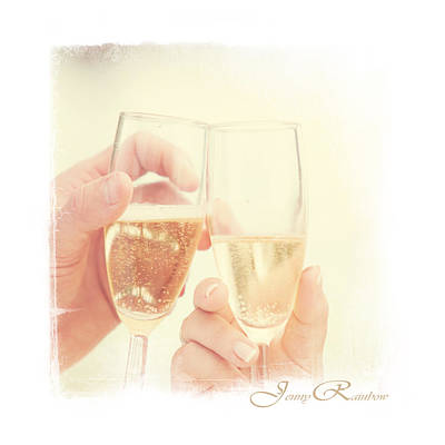 Photograph - Cheers. Wedding Day by Jenny Rainbow