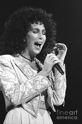 Cher Photograph - Cher by Concert Photos