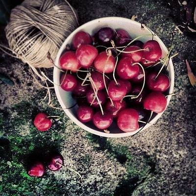 Food Wall Art - Photograph - Cherries! by Emanuela Carratoni
