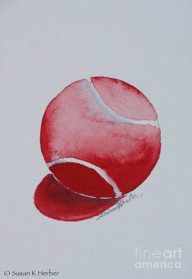 Painting - Cherry Ball by Susan Herber