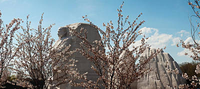 Cherry Trees In Front Of A Memorial Art Print