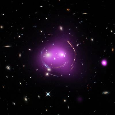 X-ray Image Photograph - Cheshire Cat Galaxy Group by Nasa/chandra X-ray Observatory Center