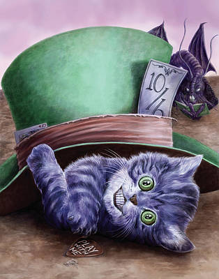 Cheshire Wall Art - Painting - Cheshire Kitten by MGL Meiklejohn Graphics Licensing