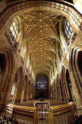 Cheshire Wall Art - Photograph - Chester Cathedral by Steve Allen/science Photo Library