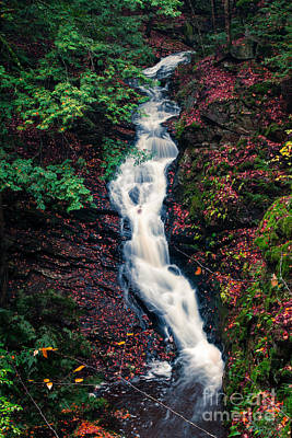 New Hampshire Autumn Photograph - Chesterfield Gorge New Hampshire by Edward Fielding