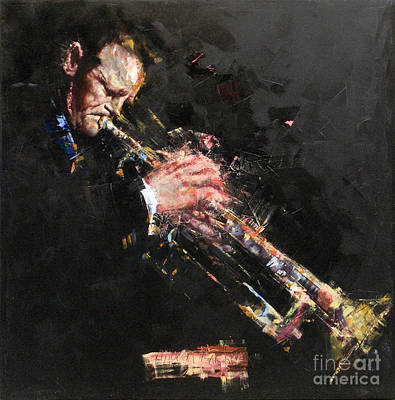 Trumpet Painting - Chet Baker by Massimo Chioccia and Olga Tsarkova