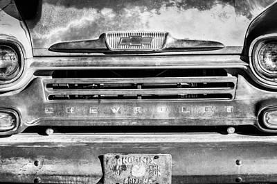 Classic Chevy Truck Photograph - Chevrolet 31 Apache Pickup Truck Emblem by Jill Reger