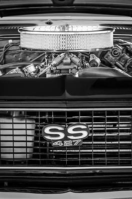 Chevy Ss Wall Art - Photograph - Chevrolet Camaro Ss 427 Grille Emblem - Engine by Jill Reger