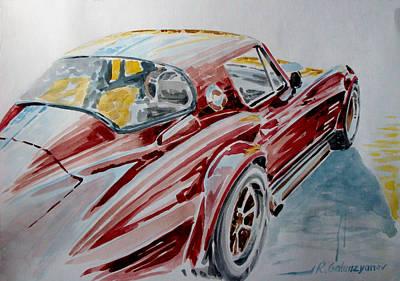 Sportscar Drawing - Chevrolet Corvette by Rimzil Galimzyanov