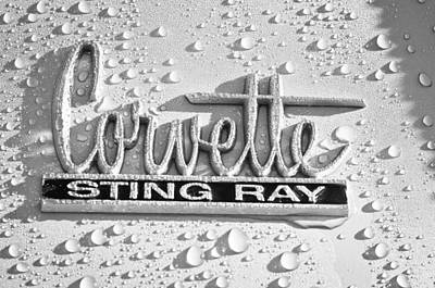 Photograph - Chevrolet Corvette Sting Ray Emblem by Jill Reger