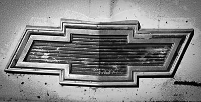 Rusty Car Photograph - Chevrolet Emblem by Jill Reger