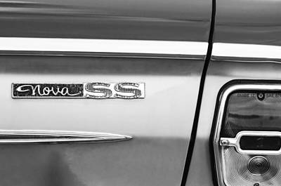 Chevy Ss Wall Art - Photograph - Chevrolet Nova Ss Taillight Emblem by Jill Reger