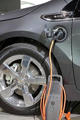 Chevrolet Volt Electric Car Art Print by Jim West