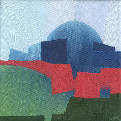 Chicago Landmark Painting - Chicago Adler Planetarium 54  Of 100 by W Michael Meyer