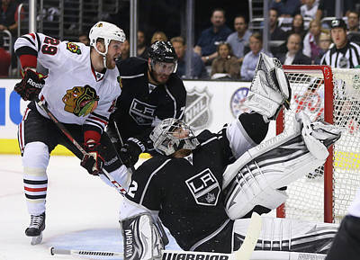 Photograph - Chicago Blackhawks V Los Angeles Kings by Jeff Gross