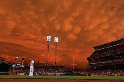 Photograph - Chicago Cubs V Cincinnati Reds by Jamie Sabau